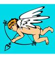 Cupid flies vector image vector image