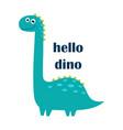 cute dinosaur design vector image vector image