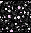 cute floral seamless vector image vector image