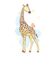 cute giraffe isolated icon design vector image vector image