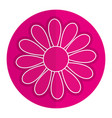 cute sunflower isolated icon vector image vector image