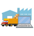 delivery tracking service shipping logistic vector image vector image
