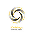 dynamic circle logo colorful swirl corporate icon vector image