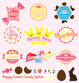 Easter candy labels and icons vector | Price: 1 Credit (USD $1)