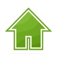 Eco house logo or icon vector image