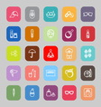 Facial and body treatment line flat icons vector image