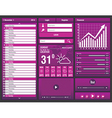 flat design elements for mobile app vector image vector image