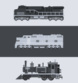 Flat design of train locomotive set vector image