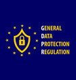 gdpr general data protection regulation concept vector image
