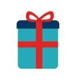 Gift box ribbon icon vector image