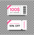 gift voucher template set discount fashion card vector image vector image