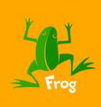 green frog icon vector image vector image