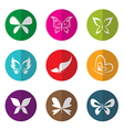 group butterfly in circle vector image vector image
