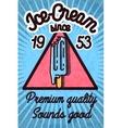 Ice cream banner vector image vector image