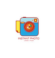 instant photo camera lens icon isolated vector image vector image