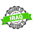 iraq round ribbon seal vector image vector image