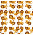 lion sleeping seamless background vector image vector image