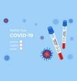 medical covid-19 blood express test coronavirus vector image