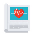 medical journal icon vector image vector image