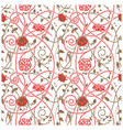medieval flowers pattern white vector image vector image