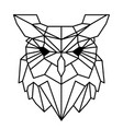 modern geometry owl design tattoo image vector image