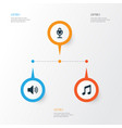multimedia icons set collection of music sound vector image