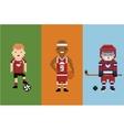 pixel art style - sportsman football vector image