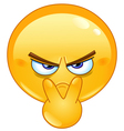 pointing to his eyes emoticon vector image vector image