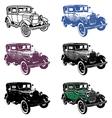Retro automobile set vector image vector image