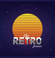 retro forever vector image vector image