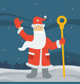 santa claus in the forest vector image vector image