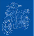 scooter outline concept vector image vector image