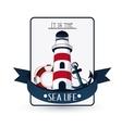 Sea life design nautical and marine concept vector image