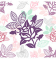 seamless decorative floral ornamental pattern vector image vector image