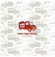 seamless pattern and emblem for street food vector image