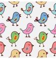 Seamless pattern cartoon birds vector image vector image