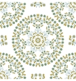 Seamless Pattern Mandala Blue Flowers vector image
