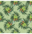 Seamless pattern with two colourful parrot vector image