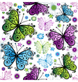Seamless spring bright pattern vector image vector image