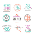 Set of electric car labels vector image vector image