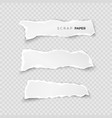 set of white ripped pieces of paper on vector image vector image
