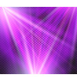 shining purple color light effects glowing vector image