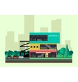 Shopping mall building vector image