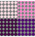 simple seamless square pattern background set vector image vector image
