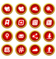 social network icons set simple style vector image vector image