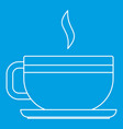 tea cup icon outline style vector image vector image