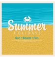 Travel banner word summer holidays vector image vector image