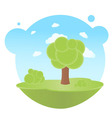 trees and clouds vector image vector image