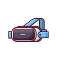 vr helmet glasses headset vector image vector image