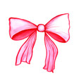 watercolor cute ribbon vector image vector image